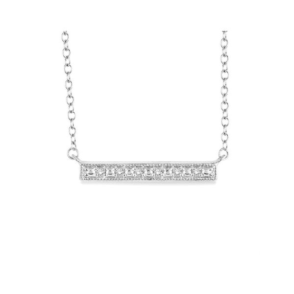 Silver Diamond Bar Necklace Your Jewelry Box Altoona, PA