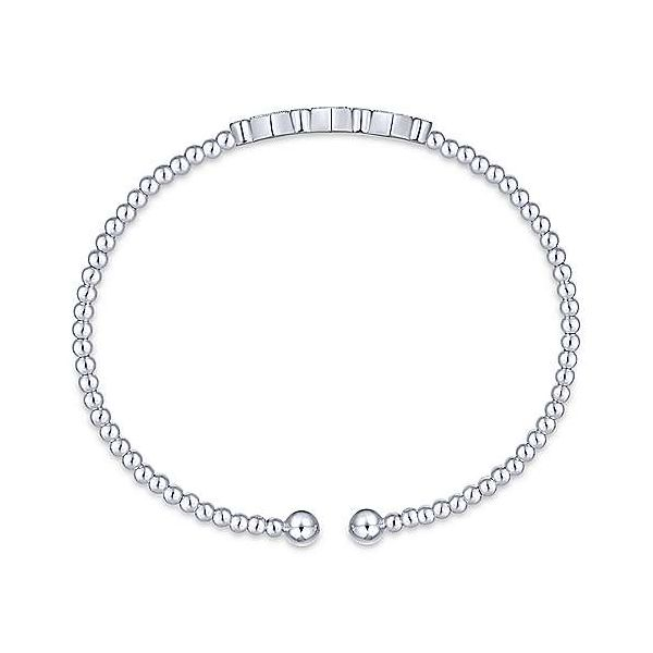 White Gold Flexi Diamond Bangle Bracelet Image 3 Your Jewelry Box Altoona, PA
