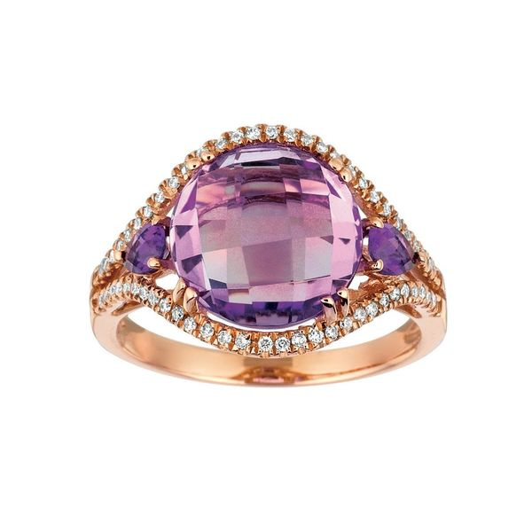 14K CHECKERBOARD AMETHYST RING Your Jewelry Box Altoona, PA