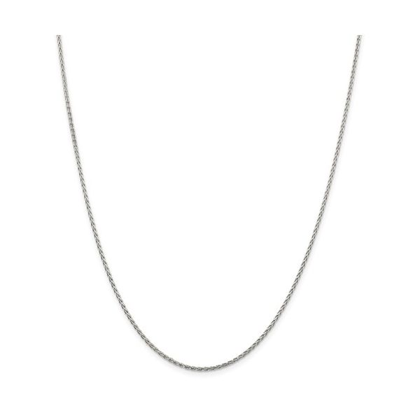 Sterling Silver 1.5mm Diamond-Cut Spiga Chain 18