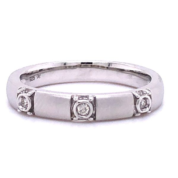 Diamond 3-Stone Stackable Ring Image 2 Your Jewelry Box Altoona, PA
