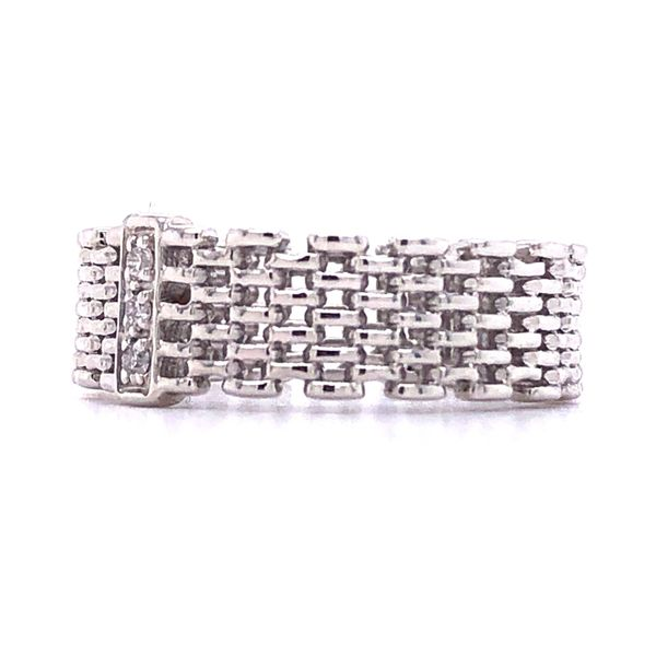 Sterling Silver Diamond Accent Woven Ring Image 3 Your Jewelry Box Altoona, PA