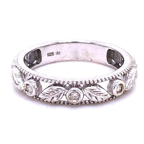 Sterling Silver Diamond Accent Floral Band Your Jewelry Box Altoona, PA