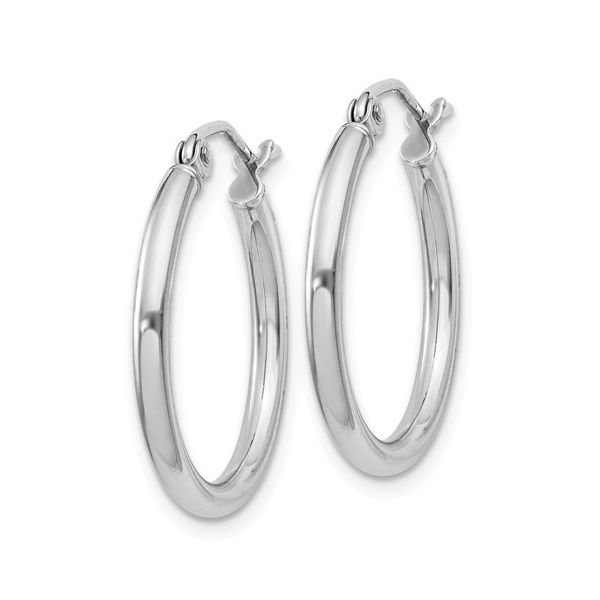 Sterling Silver 2mm Round Hoop Earrings Image 2 Your Jewelry Box Altoona, PA