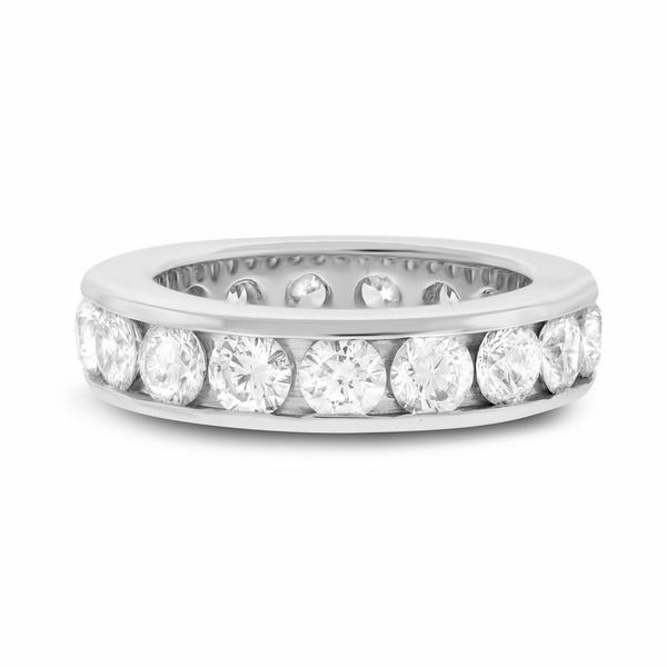 Channel Set Round Eternity Band Image 2 Forever Diamonds New York, NY
