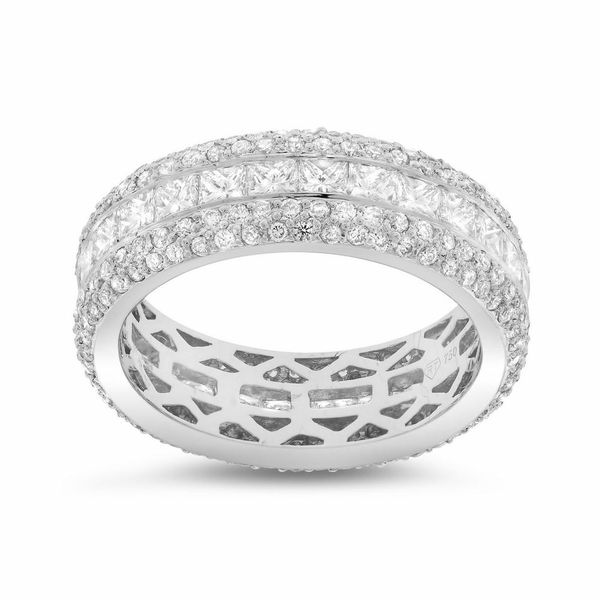 Channel Set Princess Wedding Band Image 2 Forever Diamonds New York, NY