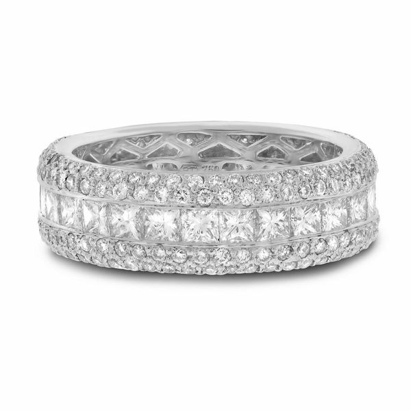 Channel Set Princess Wedding Band Forever Diamonds New York, NY