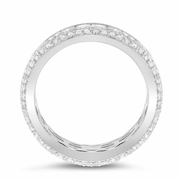 Channel Set Princess Wedding Band Image 3 Forever Diamonds New York, NY