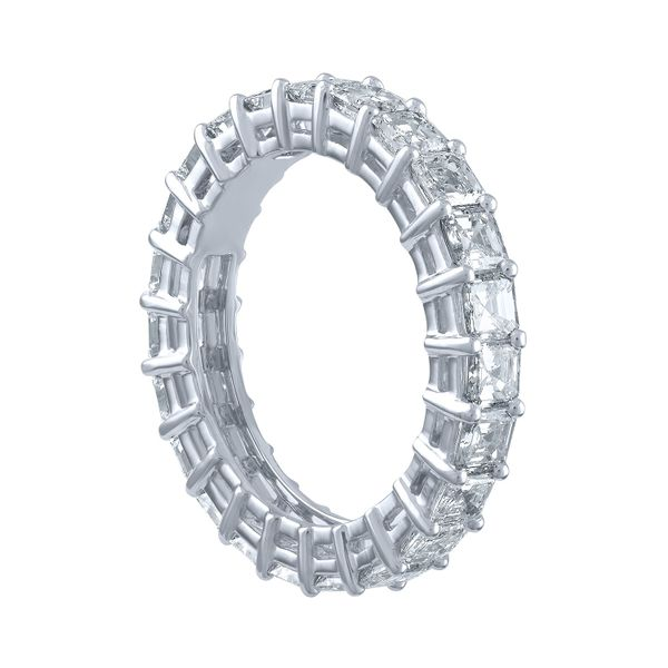 Asscher Cut Eternity Band Image 2 Forever Diamonds New York, NY