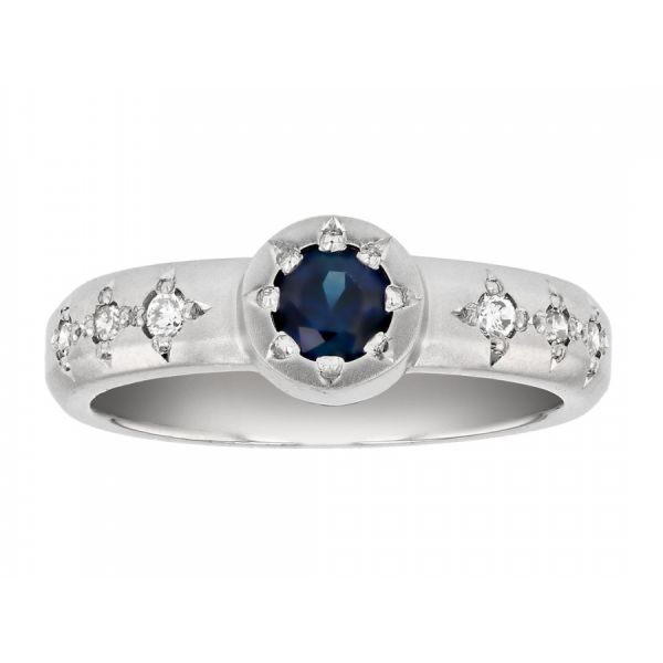 Sapphire Star Ring