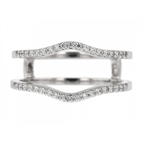 Curved Diamond Ring Guard