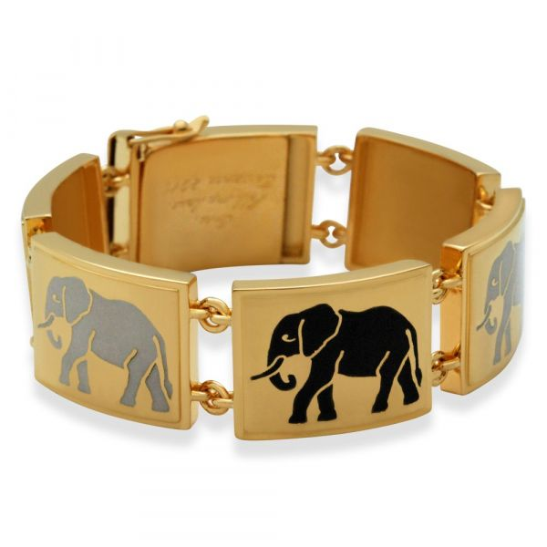custom-elephant-enamel-bracelet-in-yellow-gold-closed