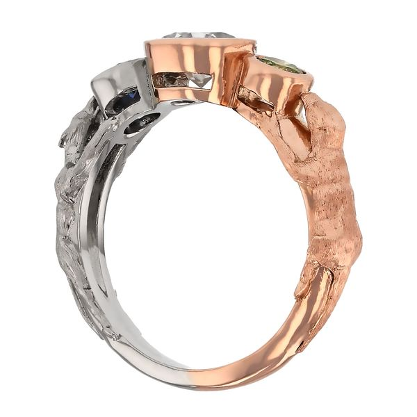 Wolf and Otter Spirit Animal Engagement Ring Image 5 Fox Fine Jewelry Ventura, CA