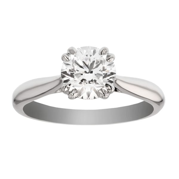 Solitaire Engagement Ring with Double Prongs