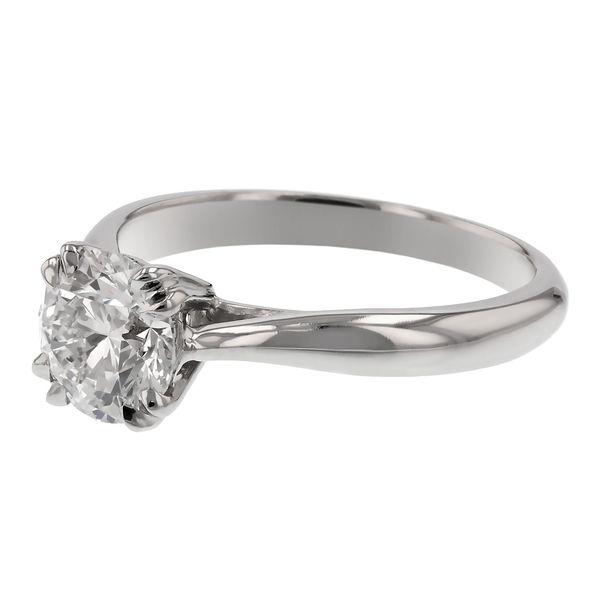 Solitaire Engagement Ring with Double Prongs Image 3 Fox Fine Jewelry Ventura, CA