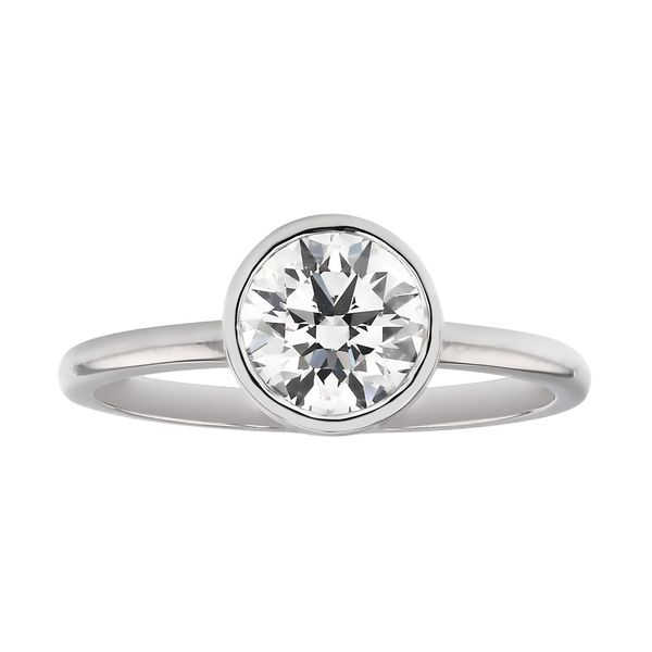 Bezel Diamond Engagement Ring