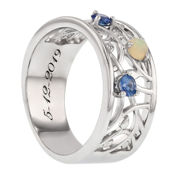 Mother's Ring with Children's Birthstones Image 3 Fox Fine Jewelry Ventura, CA