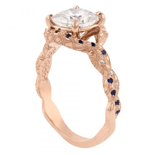 DER111-rose-gold-snake-ring-sapphires-elvish-engraved2