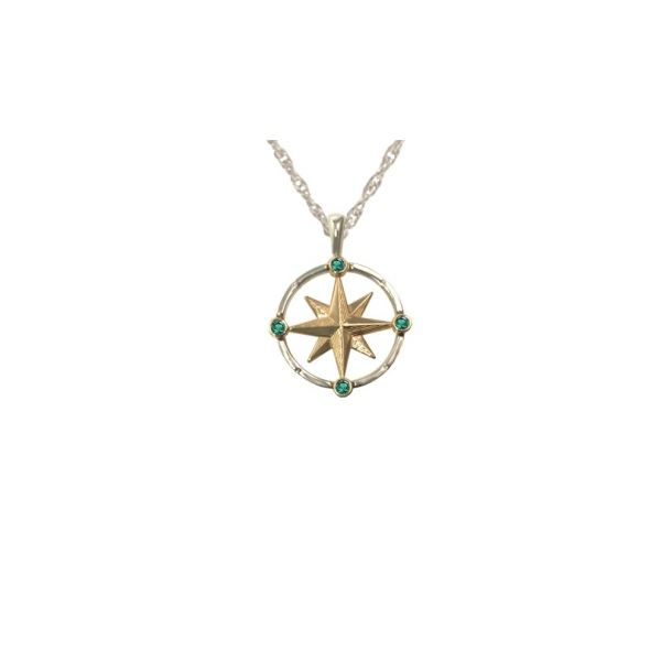 Med Compass w/Emeralds Stephen Gallant Jewelers Orleans, MA