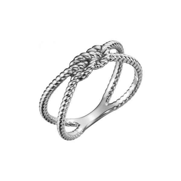 Silver Square Knot Ring Stephen Gallant Jewelers Orleans, MA