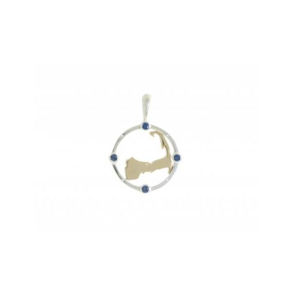 Cape Compass SM Two-Tone w/Sapphire Stephen Gallant Jewelers Orleans, MA