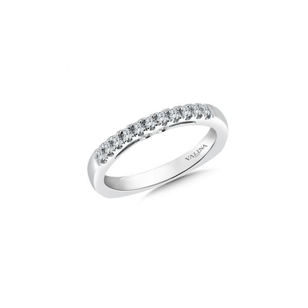 14k white gold diamond band Stephen Gallant Jewelers Orleans, MA