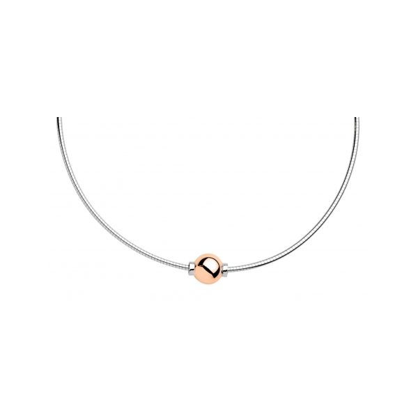 Rose Gold and Sterling Cape Cod Necklace Stephen Gallant Jewelers Orleans, MA