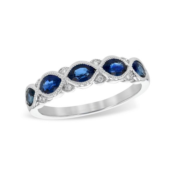 Sapphire and Diamond Band Stephen Gallant Jewelers Orleans, MA