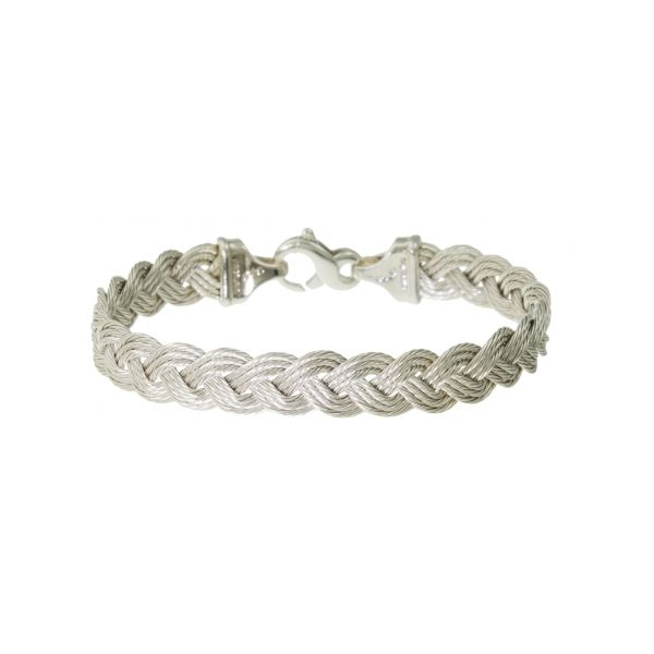 Sterling 9mm Braided Cable Bracelet Stephen Gallant Jewelers Orleans, MA