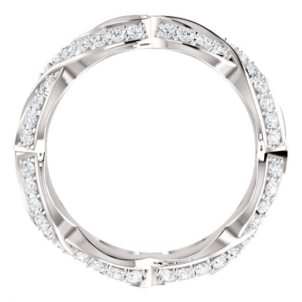 Sculptural-Inspired Engagement  Ring  Matching Band Image 2 James Wolf Jewelers Mason, OH
