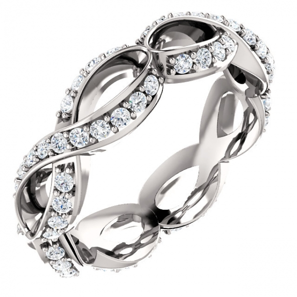 Sculptural-Inspired Engagement  Ring  Matching Band Franzetti Jewelers Austin, TX