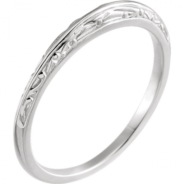 6-Prong Solitaire Engagement Ring Matching Band Image 2  ,