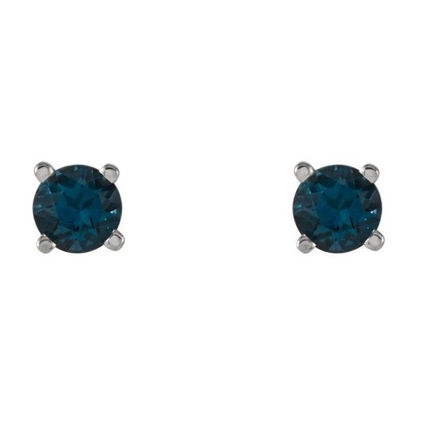 Round 4-Prong Lightweight Wire Basket Earrings Image 2 Diamondneed Inc New York City, NY