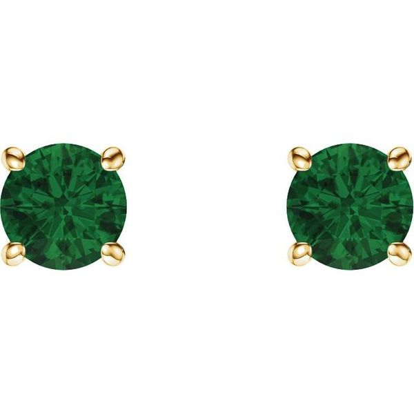 07737694234c0 Lab-Created Emerald Earrings