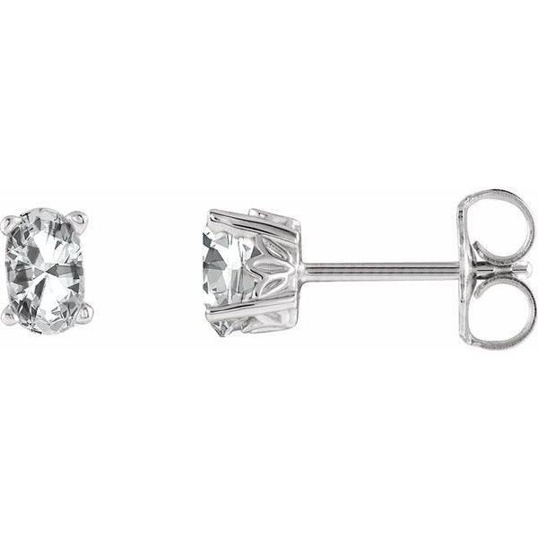 Oval 4-Prong Scroll Setting® Earrings Diamondneed Inc New York City, NY