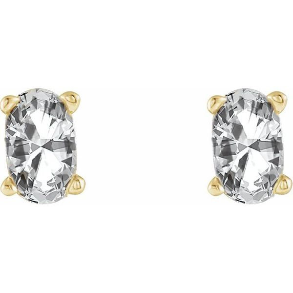 Oval 4-Prong Scroll Setting® Earrings Image 2 James Wolf Jewelers Mason, OH