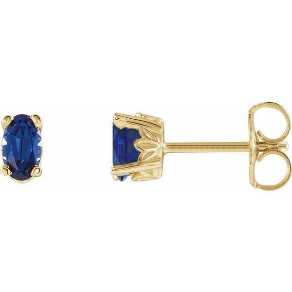 22b3731e7 Stuller Oval 4-Prong Scroll Setting® Earrings 1920:117:P | Morin ...