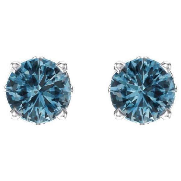 Round 4-Prong Scroll Setting® Earrings Image 2 Diamondneed Inc New York City, NY