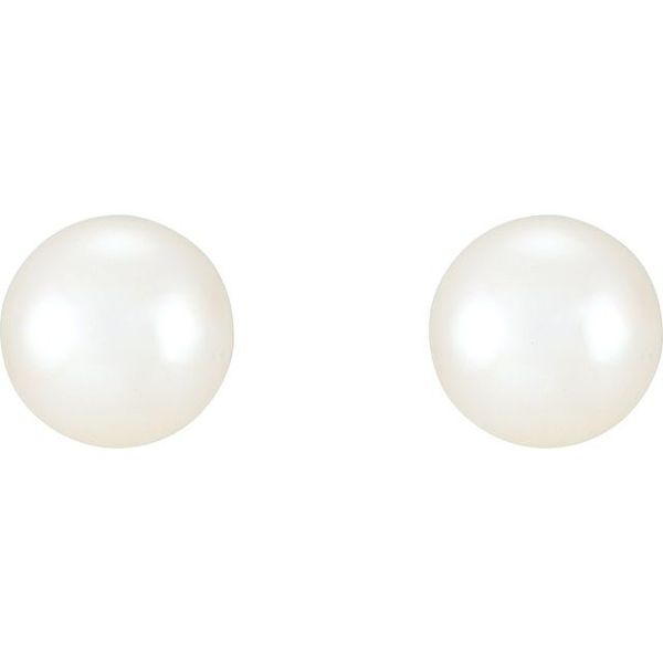 Freshwater Cultured Pearl Earrings  Image 2  ,