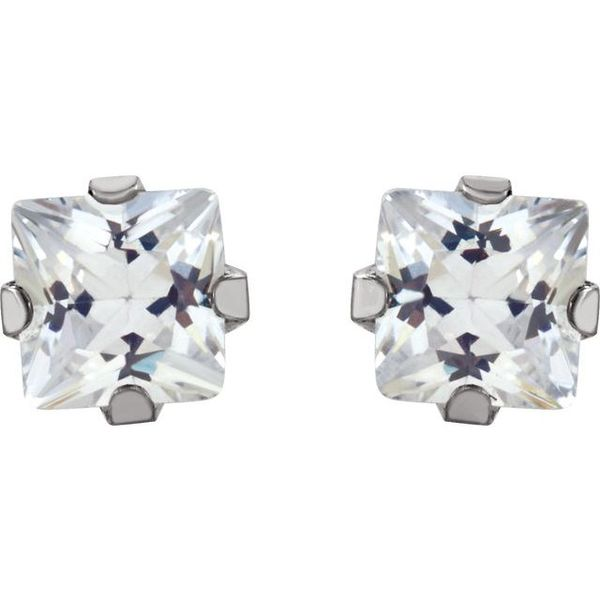 Cubic Zirconia Inverness® Piercing Earrings Image 2 Toner Jewelers Overland Park, KS