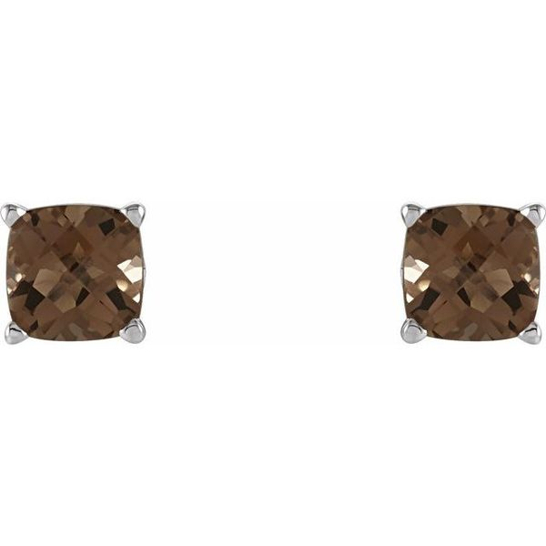 Cushion 4-Prong Scroll Setting® Earrings  Image 2  ,