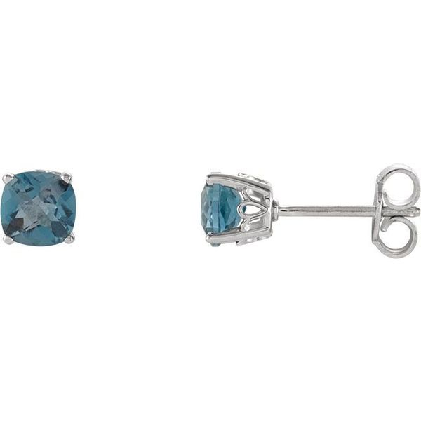Cushion 4-Prong Scroll Setting® Earrings  James Wolf Jewelers Mason, OH