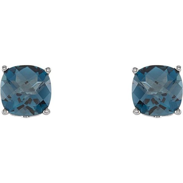 Cushion 4-Prong Scroll Setting® Earrings  Image 2 Diamondneed Inc New York City, NY
