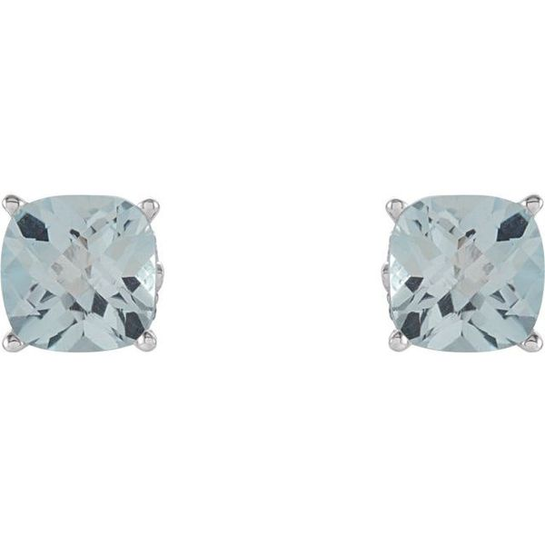 Cushion 4-Prong Scroll Setting® Earrings  Image 2 James Wolf Jewelers Mason, OH