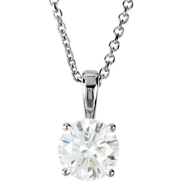 Round 4-Prong Necklace Diamonds Direct St. Petersburg, FL
