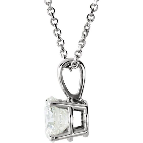 Round 4-Prong Necklace Image 2 Diamonds Direct St. Petersburg, FL