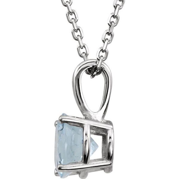 Youth 4-Prong Solitaire  Necklace  Image 2 Diamondneed Inc New York City, NY