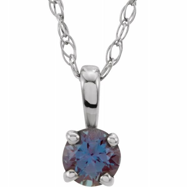 Youth 4-Prong Solitaire  Necklace  Diamondneed Inc New York City, NY