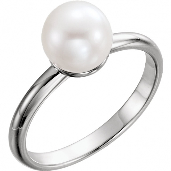 0019ca3746f5f Solitaire Pearl Ring