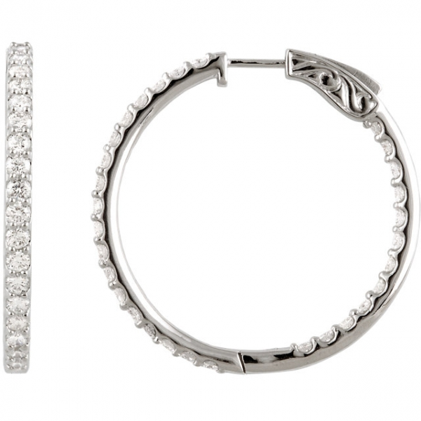 Inside/Outside Hoop Earrings Diamondneed Inc New York City, NY